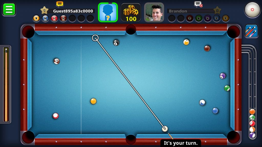 8 ball pool game play